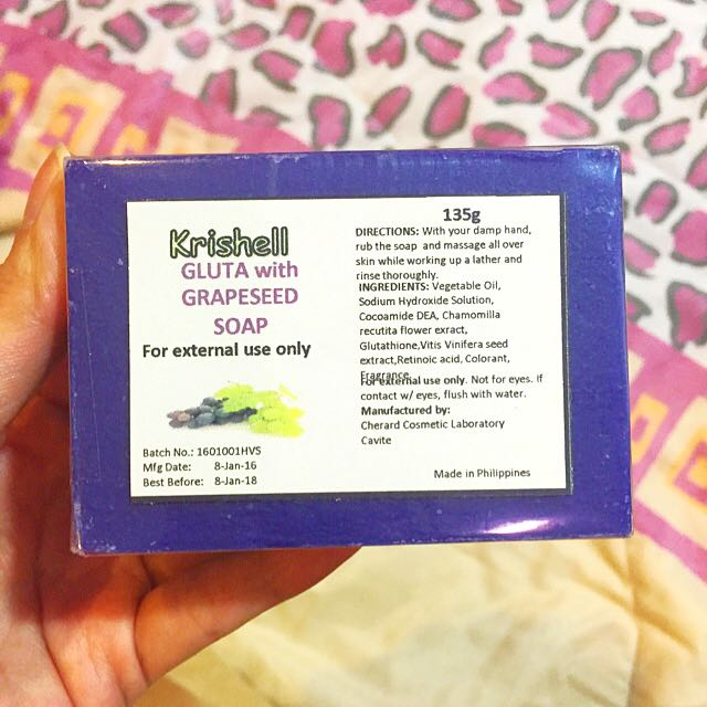 Gluta With Grapeseed Soap #iwantstarbucks