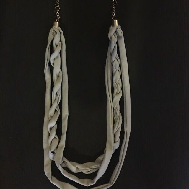 Grey Clothe Necklace