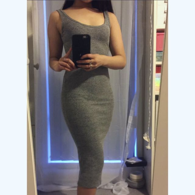 Pending * Grey/black Singlet Dress
