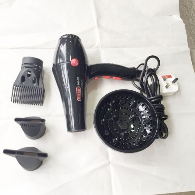 Hairdryer set for professional hairstylist
