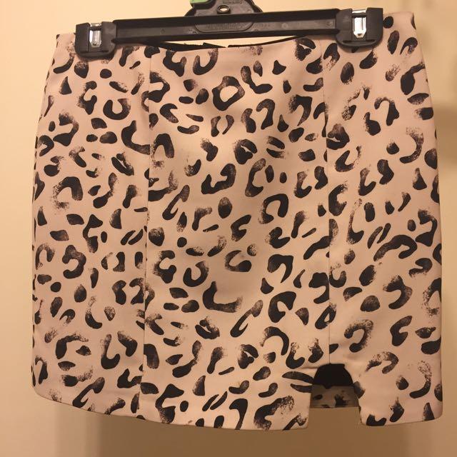 KEEPSAKE leopard Print Skirt