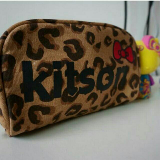 Kitson × HeIlo Kitty 限量款 豹紋化妝包