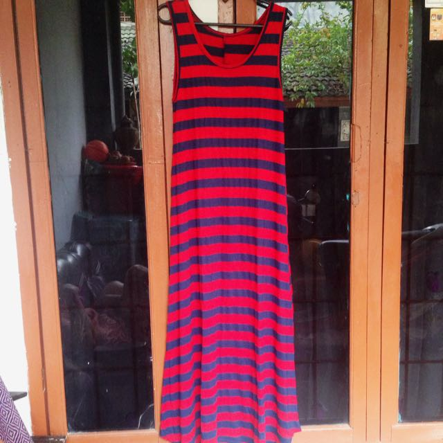 Long Dress Red&Blue