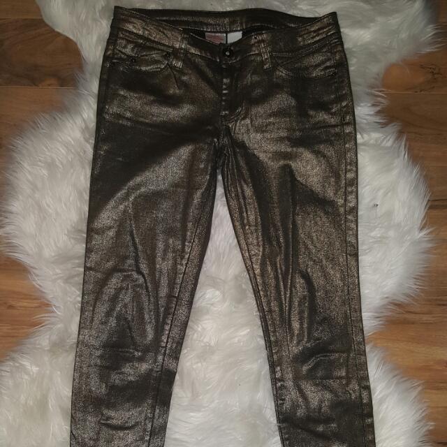 Metallic Gold Skinny Jeans