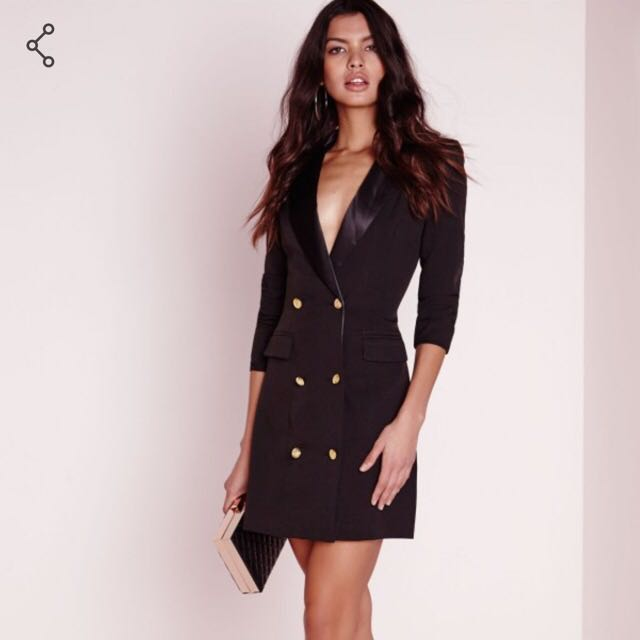 Missguided Black Blazer/Dress