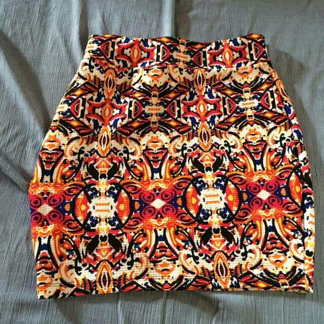 Multicolor Bandage Skirt