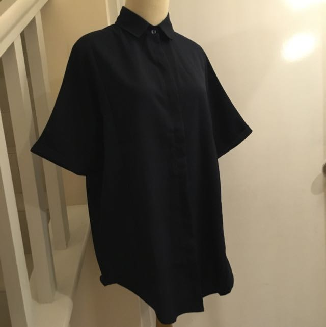 Navy Blue Loose Shirt