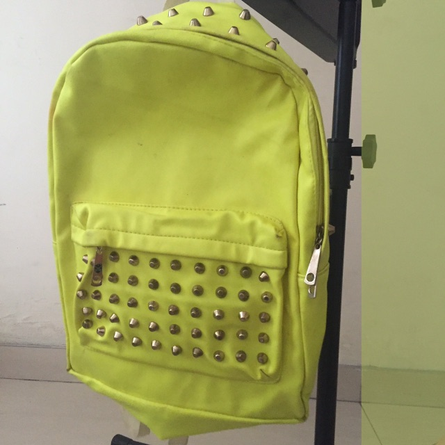 NEON GREEN BACKPACK