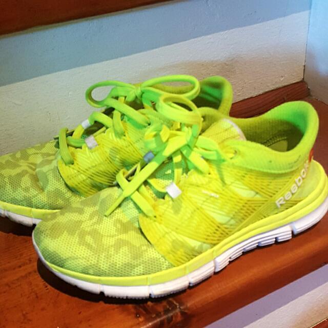 Neon Reebok Runner And Training Shores