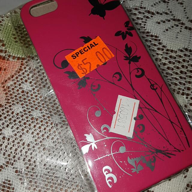 Pink iPhone 5 Case With Silver Floral Design