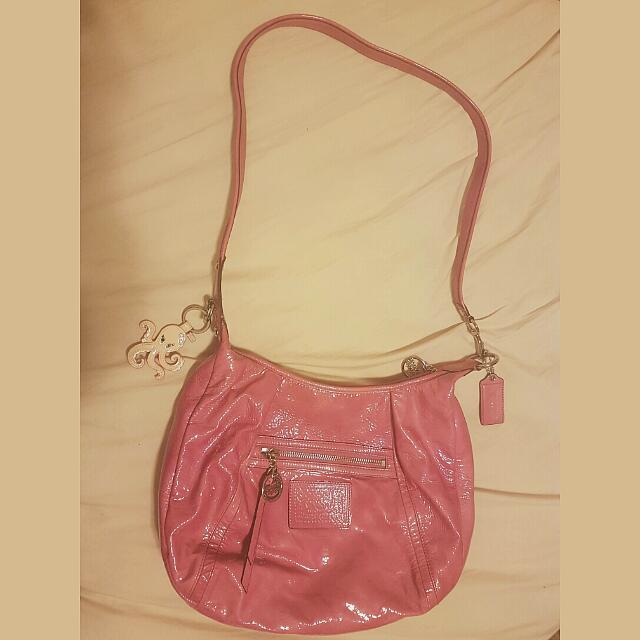 Pink leather coach Poppy Collection Shoulder Bag