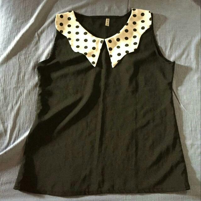 Polka Dots Collar Top