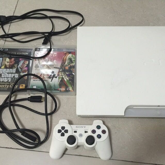 PS3 主機 一手把 HDMI 電源線 遊戲*2
