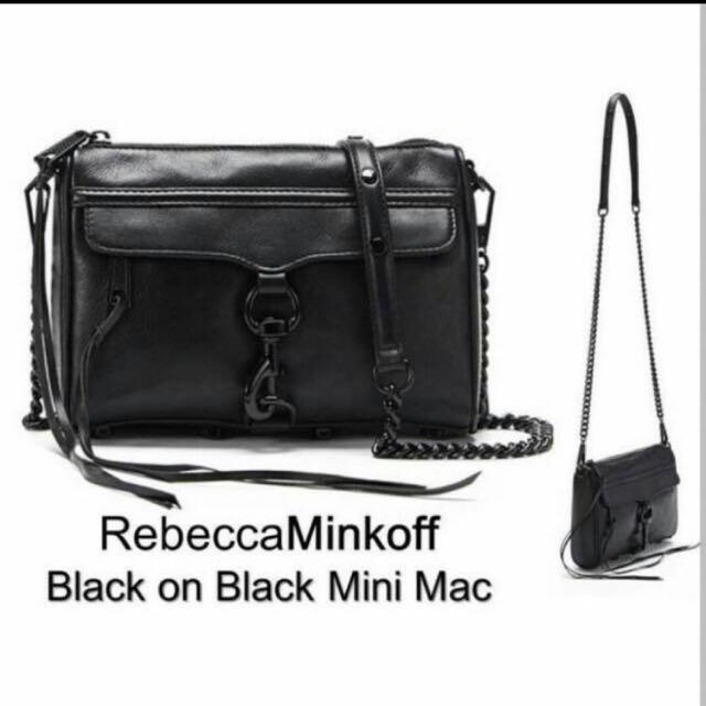 現貨免運 Rebecca Minkoff MAC 黑鍊黑扣真皮包