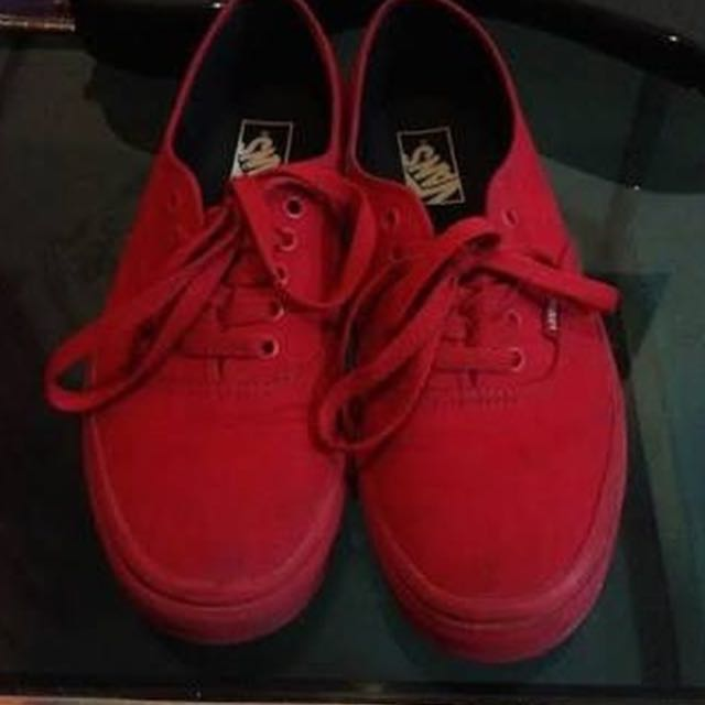 Red Mono Vans Shoes