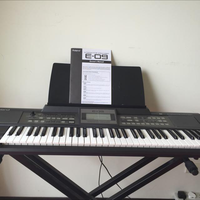 Roland E-09 自動伴奏 電子琴