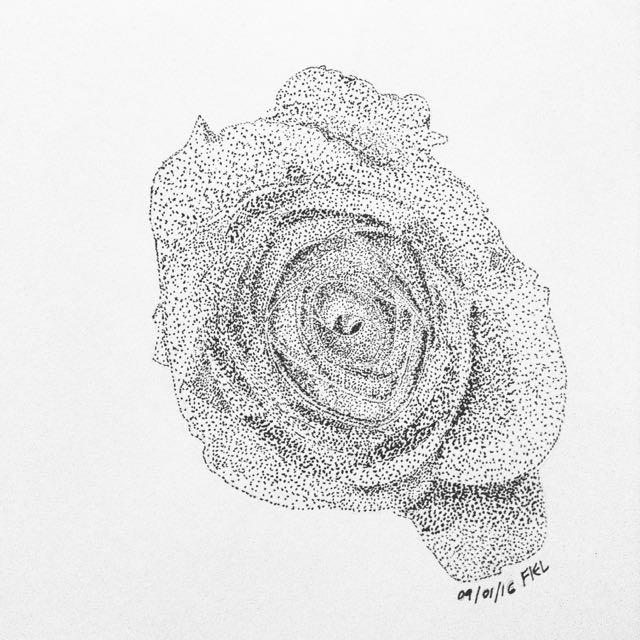 Rose Pointillism Art Print