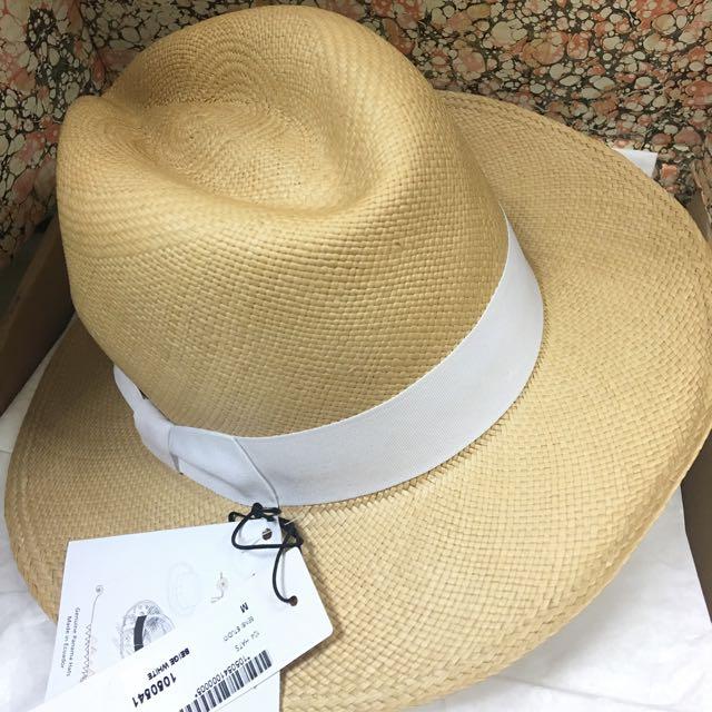 SENSI STUDIO Classic 巴拿馬草帽M(白緞帶)