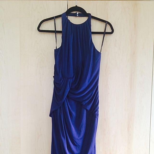 SHEIKE Catalina Maxi Dress in Navy (size 8)