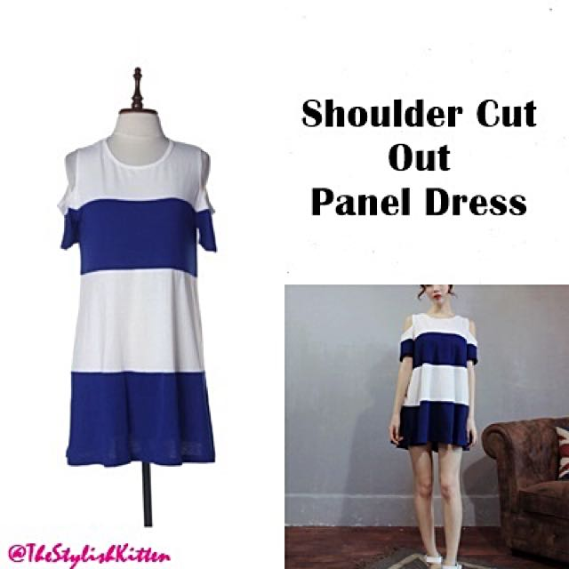 Shoulder Cut Out Panel Dress