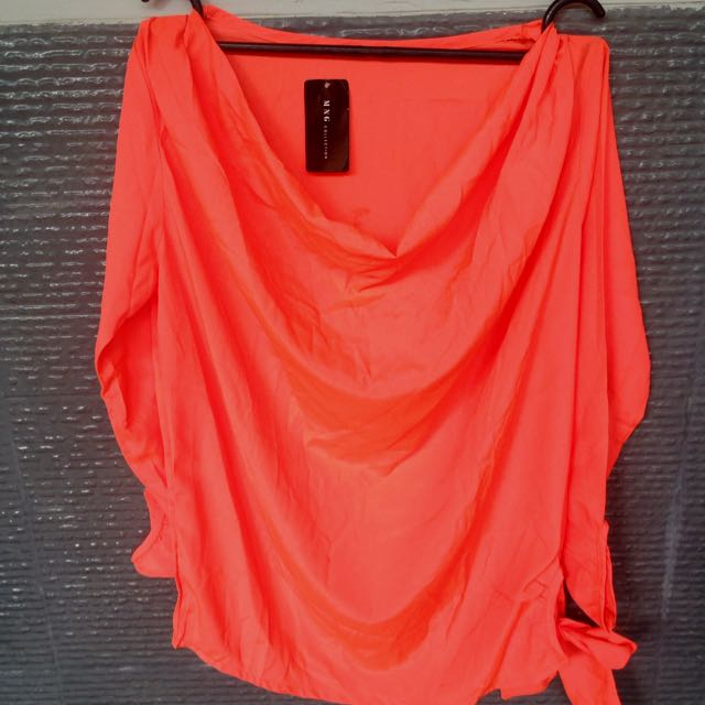 Silk Orange Neon Blouse