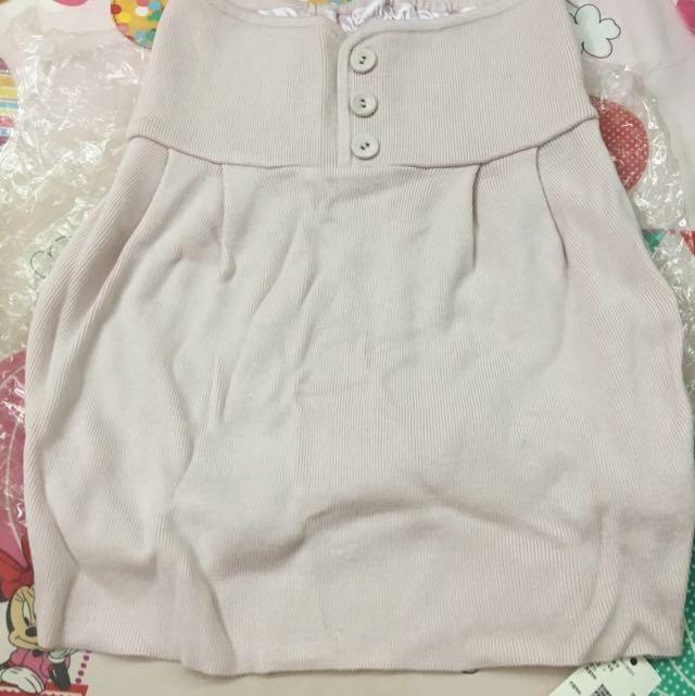 全新snidel 粉紅色針織修身裙