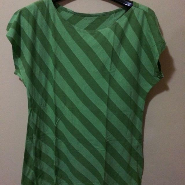 Stripey Green T-Shirt