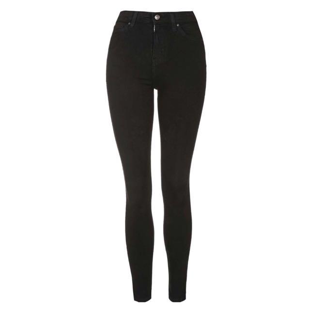 TOPSHOP Jamie Jeans W26L30 Black