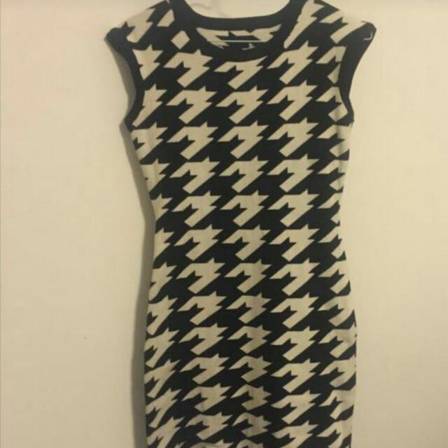 Woollen Monochrome Dress
