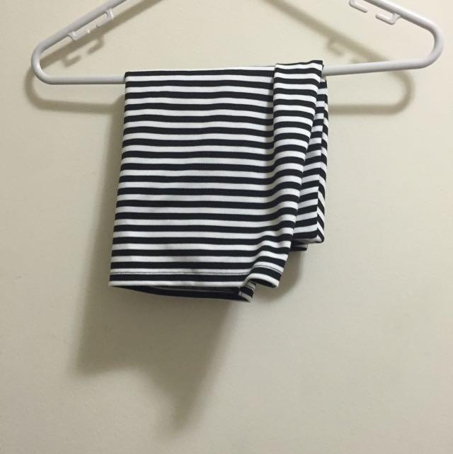 Zara Black And White Mini Skirt