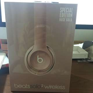 beats solo 2 wireless ( rose gold)