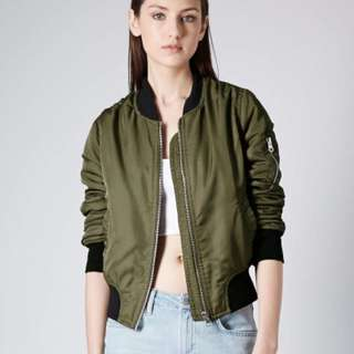 ZARA Outerwear Bomber Khaki Medium