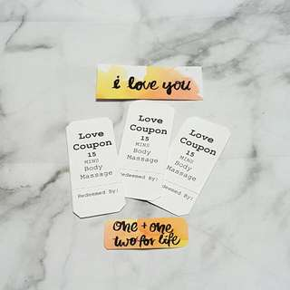 Handmade Customisable Coupons