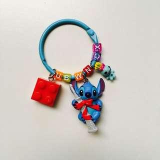 #客製-史迪奇鐵塔版字母鑰匙圈
