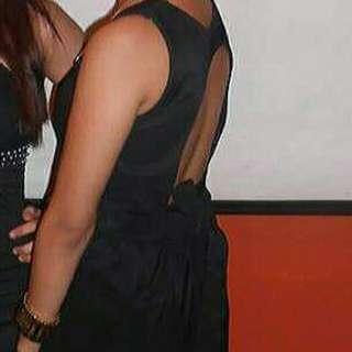 Sexy Back Black Dress