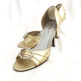 Spring (Manolo Blahnik Iconic-Look) Gold Heels