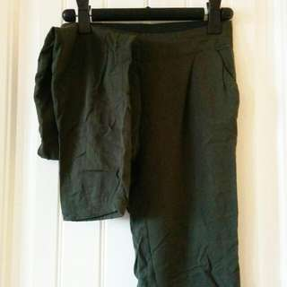 Olive Green Cotton Joggers