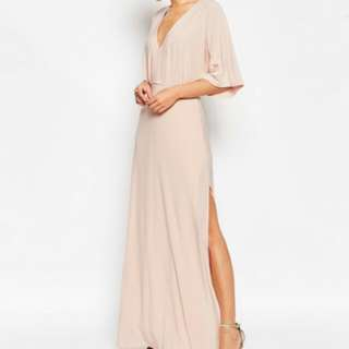 Asos Kimono Light Pink Dress With Slit As Seen On Zoella From YouTube