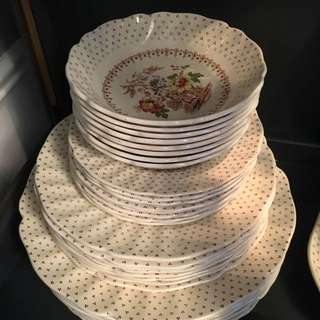 8 Place Setting China And Serving Dishes
