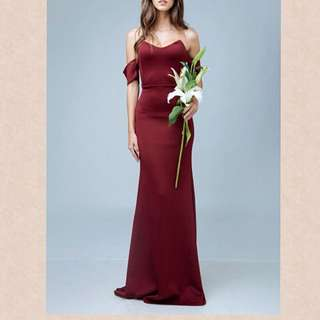 bisous maxi dress maroon