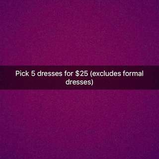5 For $25