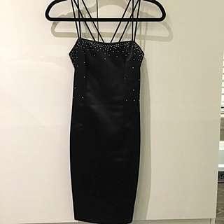 Formal Black Evening Dress - Short