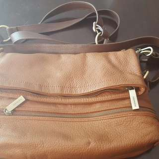 Soft & Supple Danier Leather Brown leather purse.