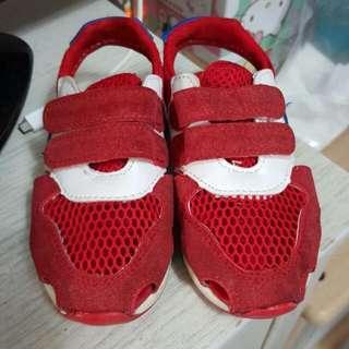 N子 紅色涼鞋 男女童鞋(內長15)