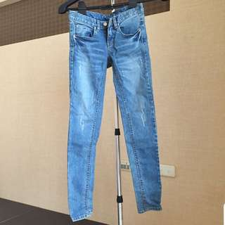 韓國製原色牛仔褲