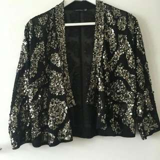 Portmans Sequinned Cropped Jacket