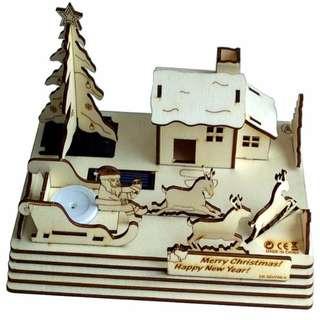 DIY太陽能木質組裝模型