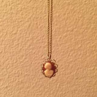 Vintage Victorian Profile Necklace