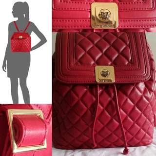 Authentic! LOVE MOSCHINO Quilted Bagpack (Red)