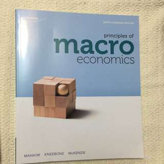 Principles Of Macro Economics - Sixth Canadian Edition